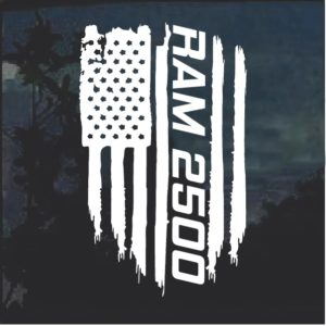Dodge Ram 2500 Weathered Flag Decal Sticker