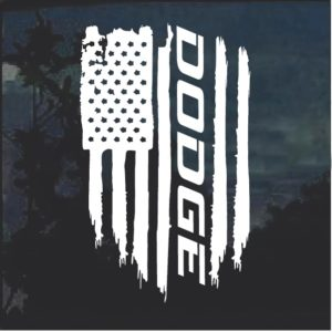 Dodge Weathered Flag Decal Sticker 2