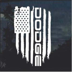 Dodge Weathered Flag Decal Sticker a2a