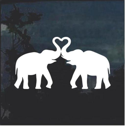 Elephant Silhouette Window Decal Sticker