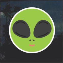 Emoji Alien Window Decal Sticker