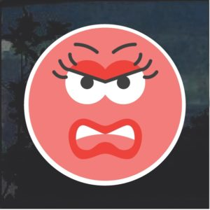 Emoji Angry Female Decal Sticker
