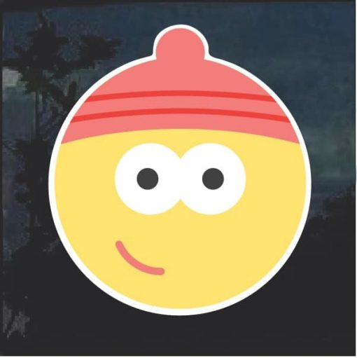 Emoji Beanie Cap Decal Sticker