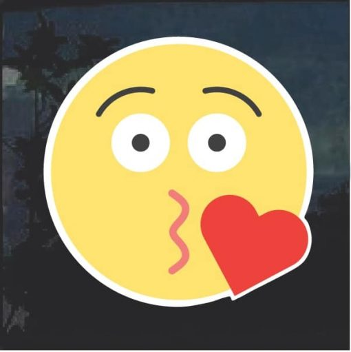 Emoji Blowing Kisses heart Decal Sticker