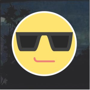 Emoji Cool Sunglasses Decal Sticker
