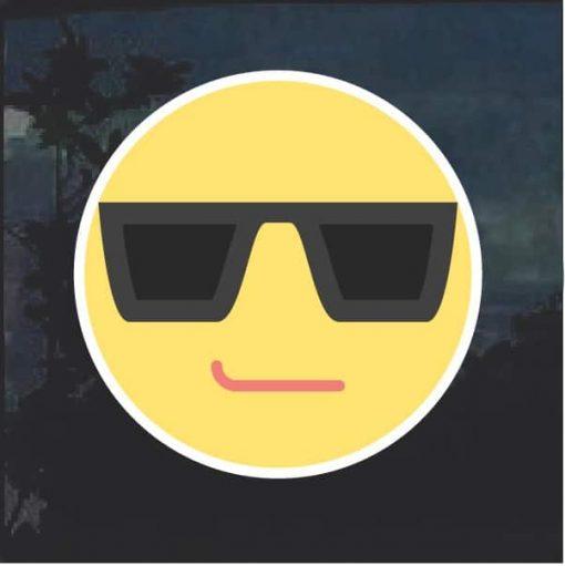 Emoji Cool Sunglasses Decal Sticker