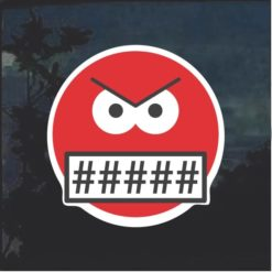 Emoji Cursing Window Decal Sticker