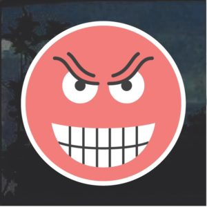 Emoji Evil Smile Decal Sticker