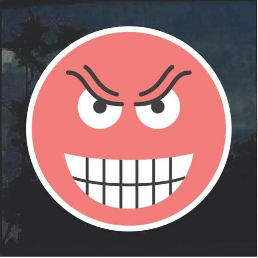 Emoji Evil Smile Decal Sticker