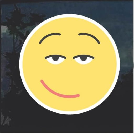 Emoji Sexy smile Decal Sticker