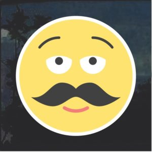 Emoji mustache Decal Sticker