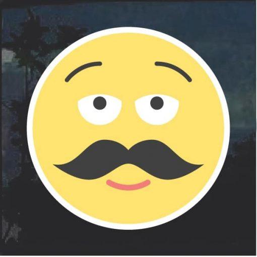 Emoji mustache Decal Sticker