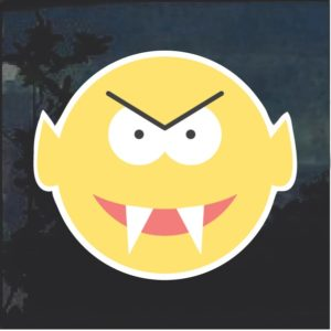 Emoji vampire Decal Sticker