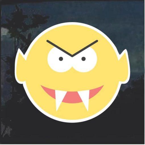 Emoji vampire Decal Sticker