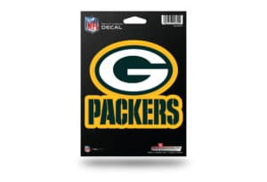 Green Bay Packers Window Decal Sticker Officially Licensed NFL