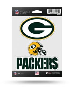 Green Bay Packers Window Decal Sticker Set Officially Licensed NFL