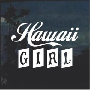 Hawaii Girl Window Decal Sticker