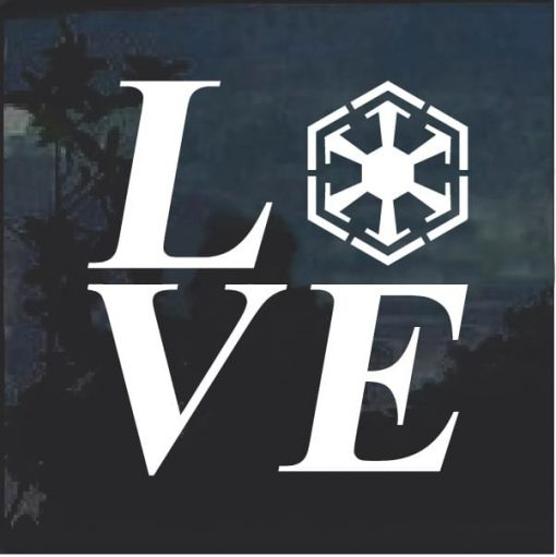 I Love Sith Star Wars Window Decal Sticker