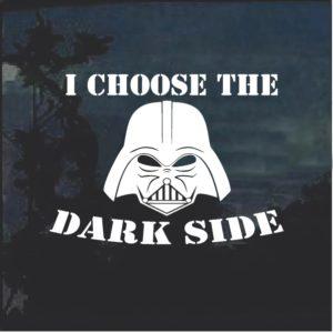 I choose the Dark Side Vader Star Wars Decal Sticker