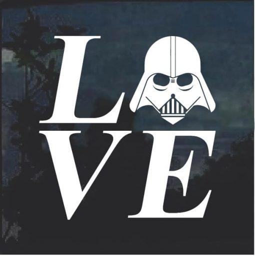 I love Darth Vader Star Wars Window Decal Sticker