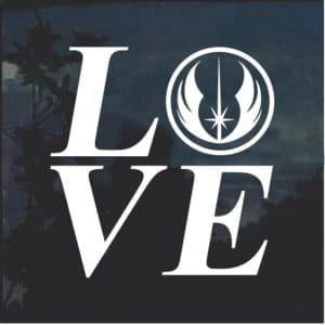 I love Jedi Star Wars Window Decal Sticker