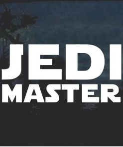 Jedi Master Star Wars Window Decal Sticker