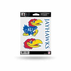 KU Jayhawks Window Decal Sticker Set Officially Licensed