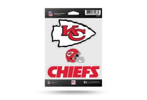 Kansas City Chiefs Window Decal Sticker Set Officially Licensed NFL