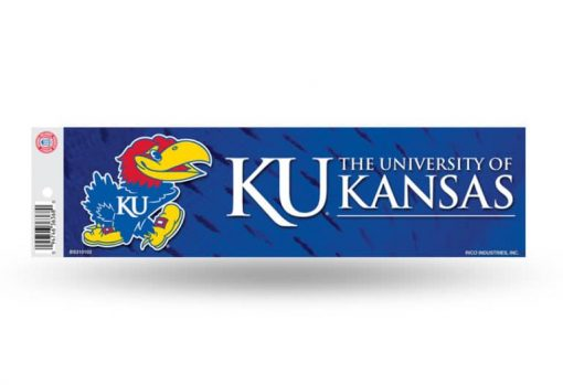 Kansas KU Jayhawks Wildcats Bumper Sticker Officially Licensed