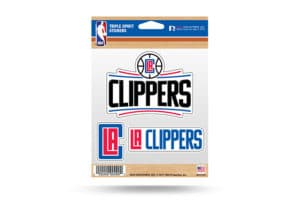 LA Clippers Window Decal Sticker Set NBA Officially Licensed