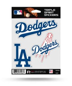LA Dodgers Window Decal Set Sticker Officially Licensed MLB
