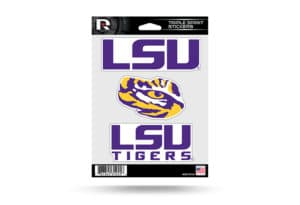LSU Tigers Window Decal Sticker Set Officially Licensed