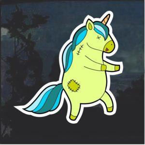 Lime Green Unicorn Window Decal Sticker