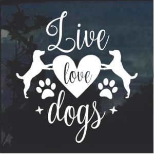 Live Love Dogs Decal Sticker