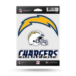 Los Angeles Chargers Window Decal Sticker Set Officially Licensed NFL