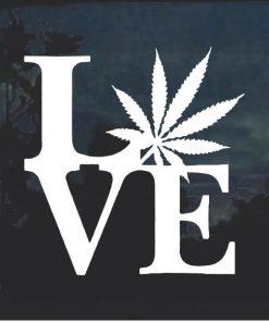 Love Marijuana Cannabis Window Decal Sticker a2