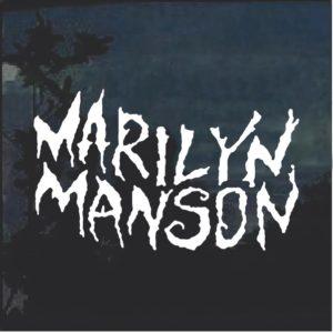 Marilyn Manson Rock Band Decal Sticker a3