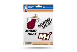 Miami Heat Window Decal Sticker Set NBA Officially Licensed