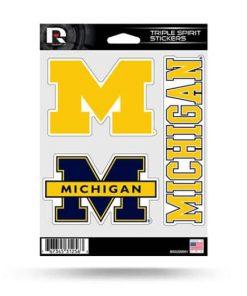 Michigan Wolverines Window Decal Sticker Set Officially Licensed