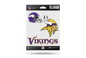 Minnesota Vikings Window Decal Sticker Set Officially Licensed NFL