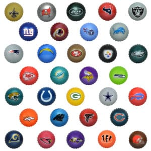 "Licensed NFL 5"" Knobby Balls"