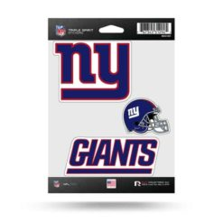 NY Giants Window Decal Sticker Set Officially Licensed NFL