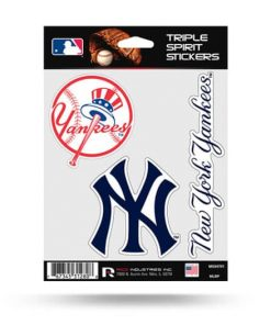 NY Yankees Window Decal Set Sticker Officially Licensed MLB