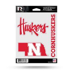 Nebraska Corn Huskers Window Decal Sticker Set Officially Licensed