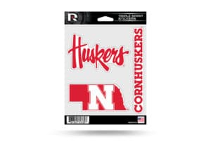 Nebraska Corn Huskers Window Decal Sticker Set Officially Licensed