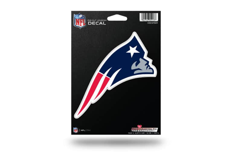 9e6b63f0c5c NFL Football New England Patriots Window Decal Sticker Officially ...