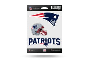 New England Patriots Window Decal Sticker Set Officially Licensed NFL