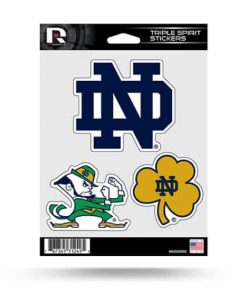Notre Dame Fighting Irish Window Decal Sticker Set Officially Licensed