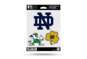 Notre Dame Fighting Irish Window Decal Sticker Set Officially Licensed