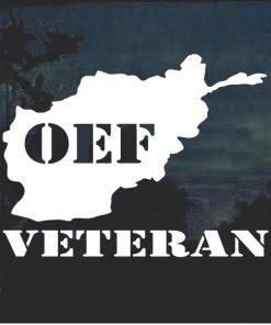 OEF Veteran Window Decal Sticker